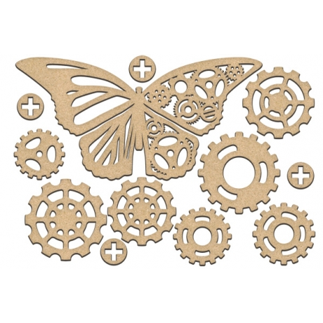 MDF dekoratiivelementide komplekt #187