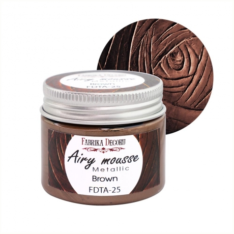 Airy mousse metallic. color Brown