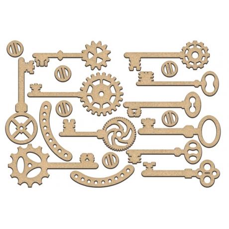 MDF dekoratiivelementide komplekt #193