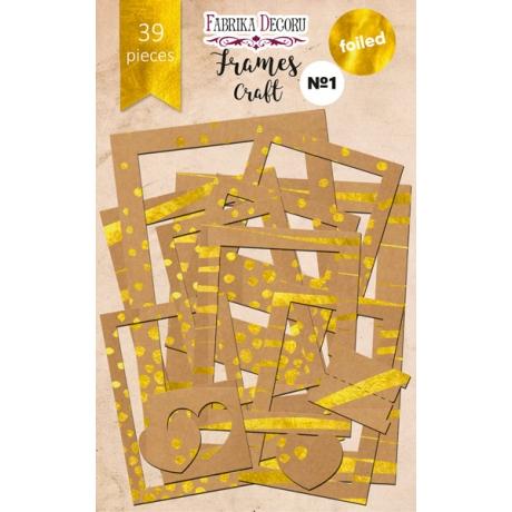 Set of gold foiled frames №1