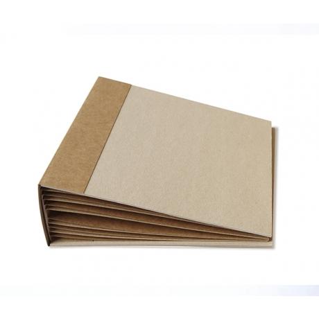 Blank album of kraft cardboard 20cm x 20cm