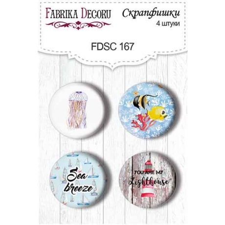 Flair buttons. Set of 4pcs #167