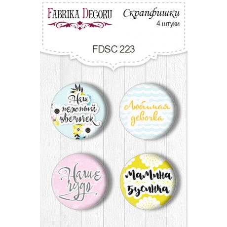 Flair buttons. Set of 4pcs #223