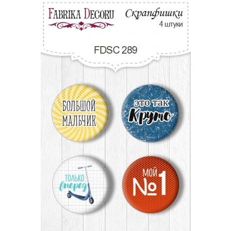 Flair buttons. Set of 4pcs #289