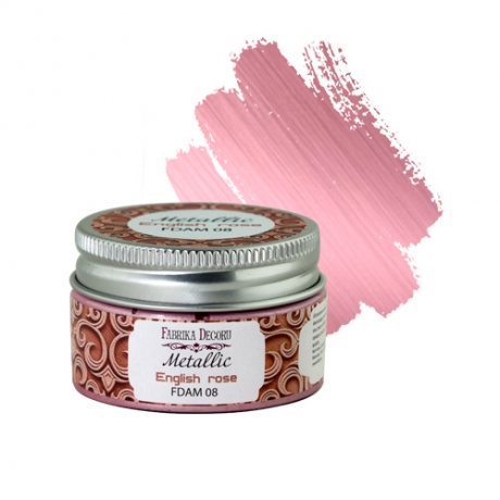 Metallic paint English rose 30 ml