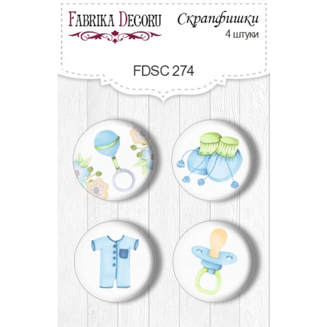 Flair buttons. Set of 4pcs #274