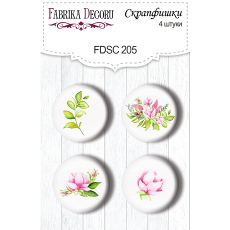 Flair buttons. Set of 4pcs #205