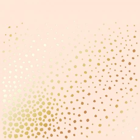 """Ühepoolne disainpaberi leht sissepressitud kuldse fooliumiga """"Golden Maxi Drops Beige"""""""