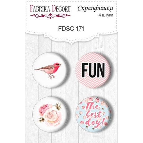 Flair buttons. Set of 4pcs #171