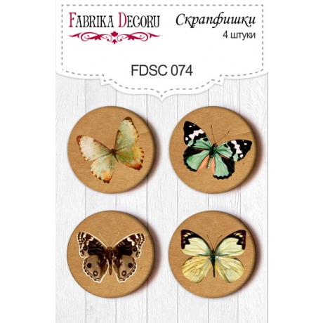 Flair buttons. Set of 4pcs #074