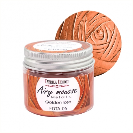 Airy mousse metallic. color Golden rose