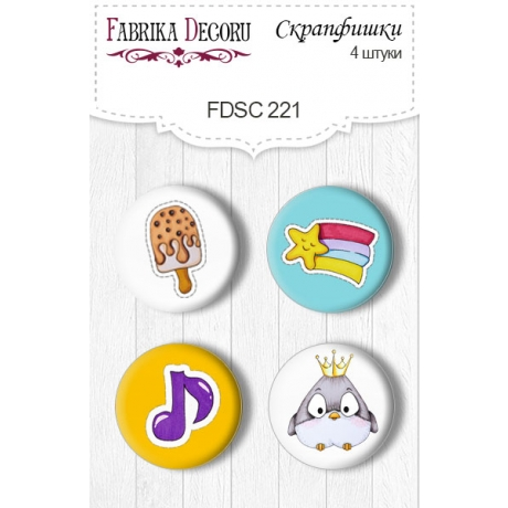 Flair buttons. Set of 4pcs #221