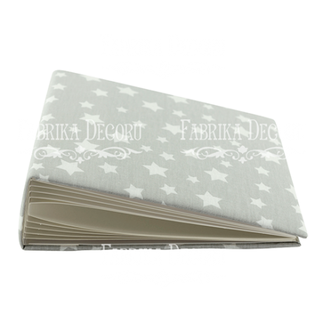 Blank album with a soft fabric cover