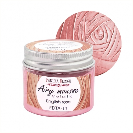 Airy mousse metallic. color English rose