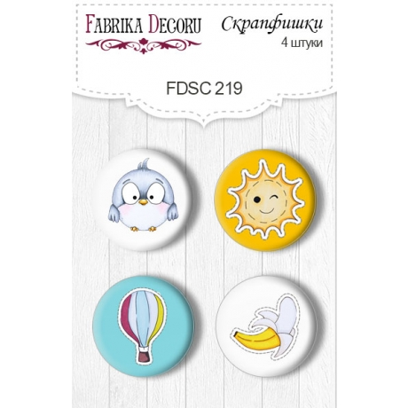 Flair buttons. Set of 4pcs #219