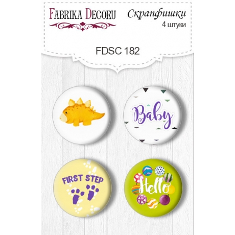 Flair buttons. Set of 4pcs #182