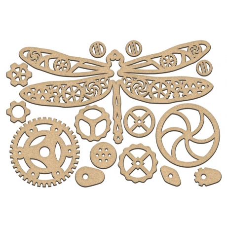 MDF dekoratiivelementide komplekt #186