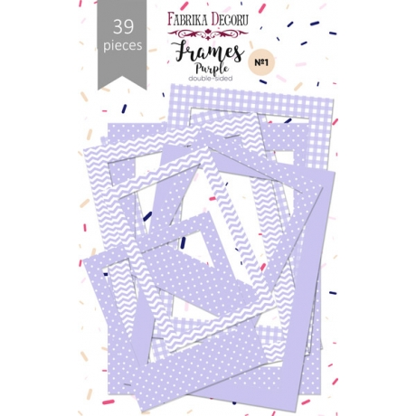 "Set of frames №1 ""Purple 39pcs"