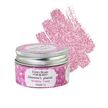 Glitter-värv. Shabby roosa