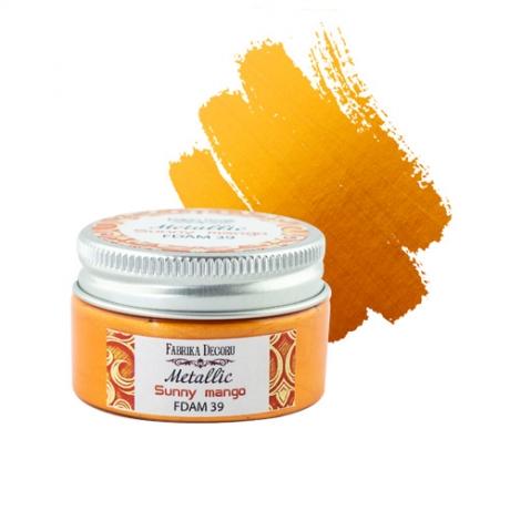Metallic paint Sunny mango 30 ml
