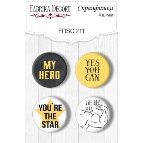Flair buttons. Set of 4pcs #211