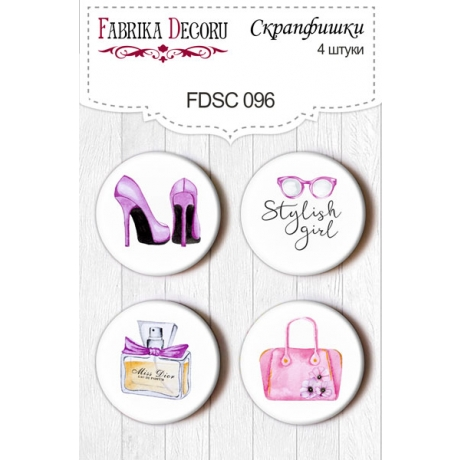Flair buttons. Set of 4pcs #096