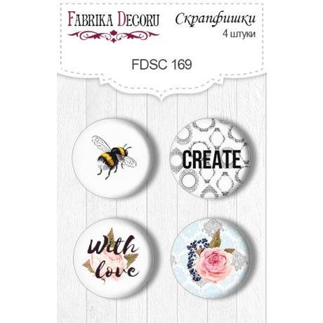 Flair buttons. Set of 4pcs #169
