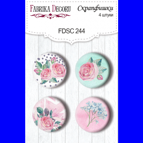 Flair buttons. Set of 4pcs #244