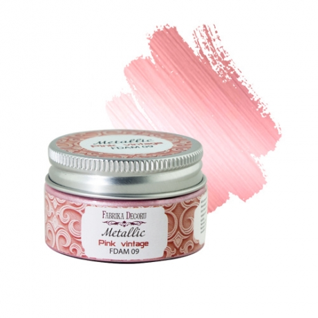Metallic paint Pink vintage 30 ml