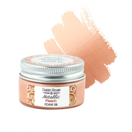 Metallic paint Peach 30 ml