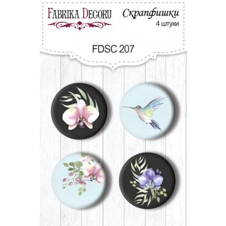 Flair buttons. Set of 4pcs #207