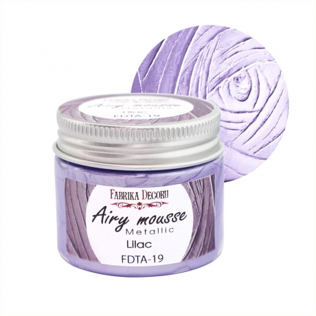 Airy mousse metallic. color Lilac