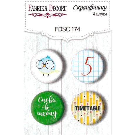Flair buttons. Set of 4pcs #174