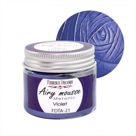 Airy mousse metallic. color Violet