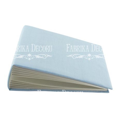 "Blank album with a soft fabric cover ""Light blue"""