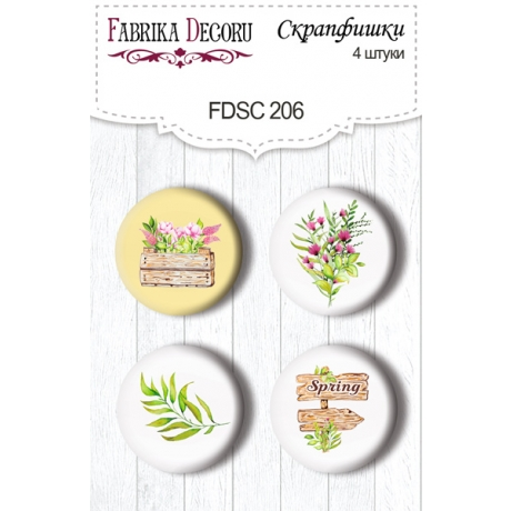 Flair buttons. Set of 4pcs #206