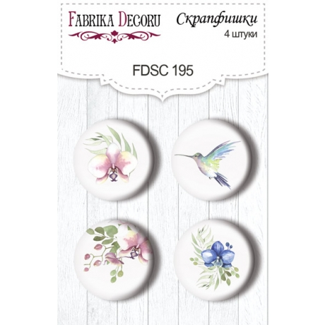Flair buttons. Set of 4pcs #195