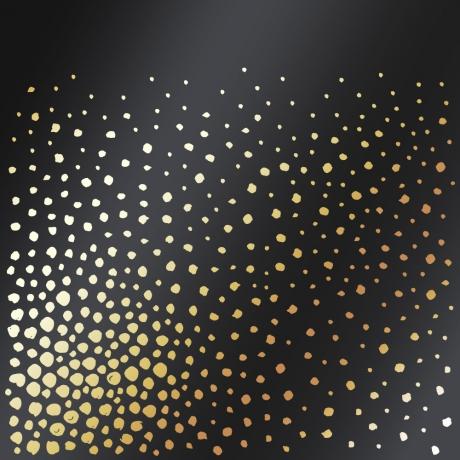 Ühepoolne disainpaberi leht sissepressitud kuldse fooliumiga