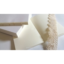 Notebook block A6 - milky-white
