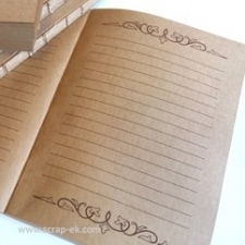 Notebook block A5 - kraft-brown