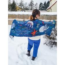 Палантин «Подводный мир» ПРОДАН