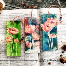 "Bookmark ""Poppies"" 3 pcs"