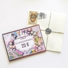 Подарочная карточка в конверте 20 EUR