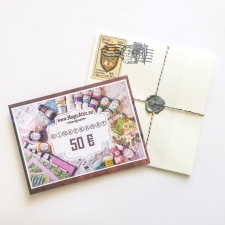 Gift card in the envelope 50 EUR