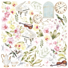 """Decorative sheet for cutting """"Orchid Song"""""""