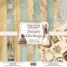 "Double-sided scrapbooking paper set ""Family Heritage"", 12""x12"""
