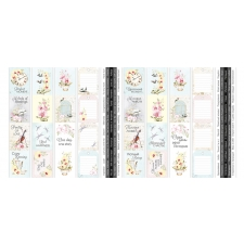 """Set of stripes with pictures for decoration """"Orchid Song"""""""