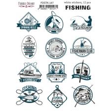"Kit of stickers #147, ""Fishing"""