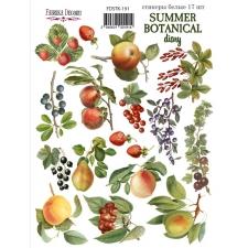 "Набор наклеек (стикеров) #191, ""Summer Botanical Diary"""