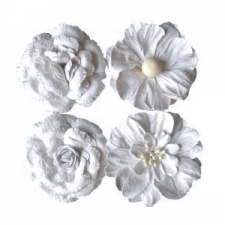 Big white flowers - 4pcs